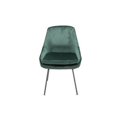 Arreguin Upholstered Dining Chair Upholstery Color: Seafoam, Leg Color: Silver