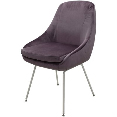 Arreguin Upholstered Dining Chair Upholstery Color: Purple, Leg Color: White