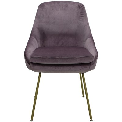 Arreguin Upholstered Dining Chair Upholstery Color: Purple, Leg Color: Gold