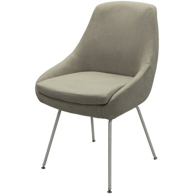Arreguin Upholstered Dining Chair Upholstery Color: Beige, Leg Color: White