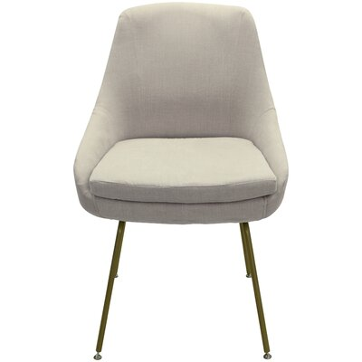 Arreguin Upholstered Dining Chair Upholstery Color: Beige, Leg Color: Gold
