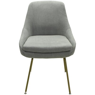 Arreguin Upholstered Dining Chair Upholstery Color: Gray, Leg Color: Gold