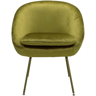 Arpin Upholstered Dining Chair Upholstery Color: Gold, Leg Color: Gold