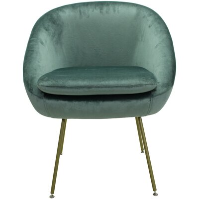 Arpin Upholstered Dining Chair Upholstery Color: Seafoam, Leg Color: Gold