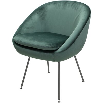 Arpin Upholstered Dining Chair Upholstery Color: Seafoam, Leg Color: Silver