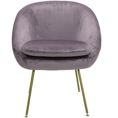 Arpin Upholstered Dining Chair Upholstery Color: Purple, Leg Color: Gold