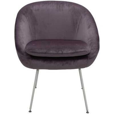 Arpin Upholstered Dining Chair Upholstery Color: Purple, Leg Color: White