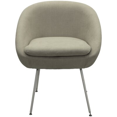 Arpin Upholstered Dining Chair Upholstery Color: Beige, Leg Color: White