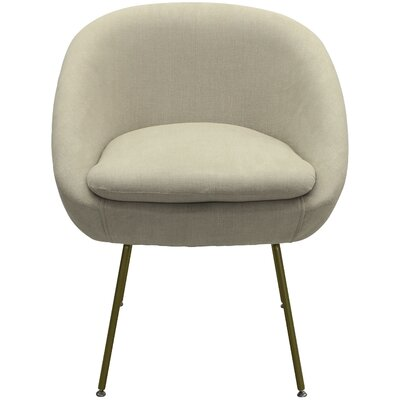 Arpin Upholstered Dining Chair Upholstery Color: Beige, Leg Color: Gold