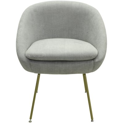 Arpin Upholstered Dining Chair Upholstery Color: Grey, Leg Color: Gold