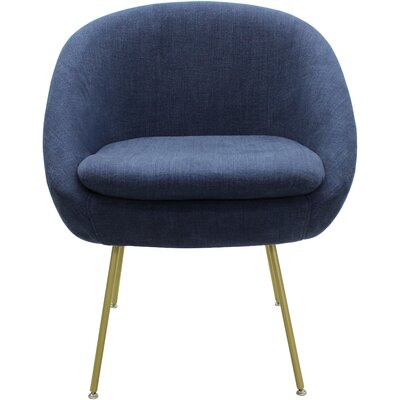 Arpin Upholstered Dining Chair Upholstery Color: Dark Blue, Leg Color: Gold