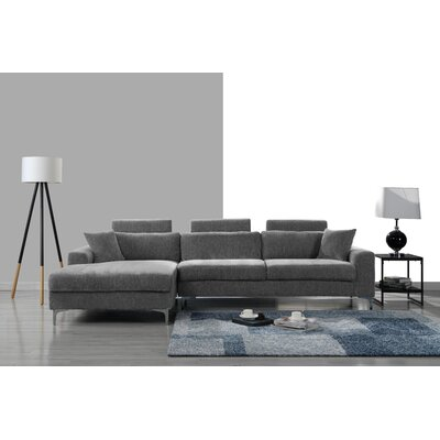 Mckain L Shape Sectional Upholstery: Gray