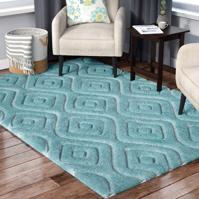 Helms Blue Area Rug Rug Size: Rectangle 3 x 5