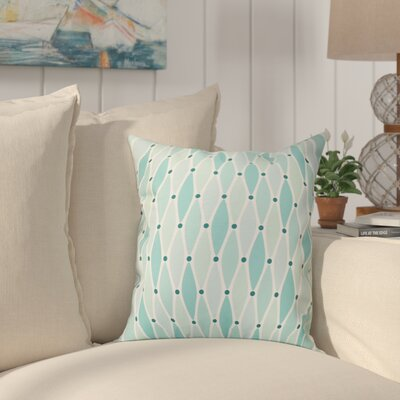 Cedarville Wavy Throw Pillow Size: 26 H x 26 W, Color: Aqua