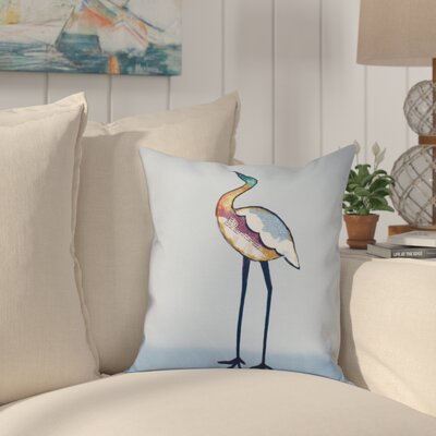 Boubacar Bird Animal Print Throw Pillow Size: 18 H x 18 W, Color: Blue