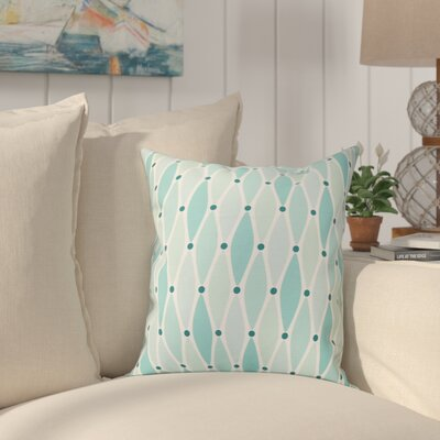 Boubacar Wavy Outdoor Throw Pillow Size: 18 H x 18 W, Color: Aqua