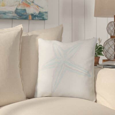 Rajashri Square Throw Pillow Size: 20 H x 20 W, Color: Bahama Blue / Taupe