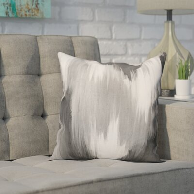 Lansdale Throw Pillow Color: Gray, Size: 18 x 18