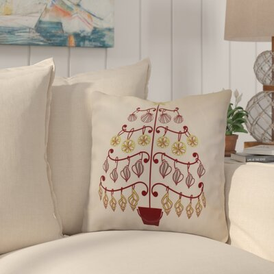 Huong Decorative Holiday Geometric Print Square Throw Pillow Size: 16 H x 16 W, Color: Cranberry