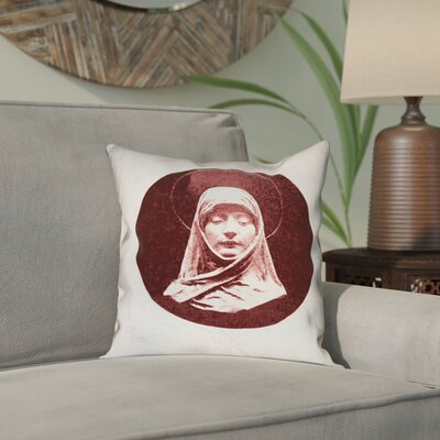 Carpenter Vintage Prayer Woman Indoor/Outdoor Throw Pillow Size: 16 x 16