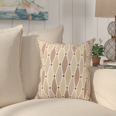 Boubacar Wavy Outdoor Throw Pillow Size: 20 H x 20 W, Color: Taupe