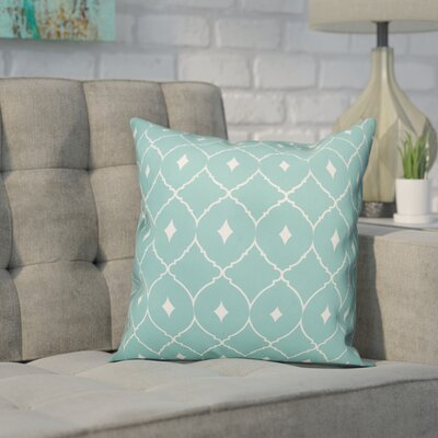 Cedric Diamond Throw Pillow Color: Turquoise Teal, Size: 16 x 16, Type: Lumbar Pillow