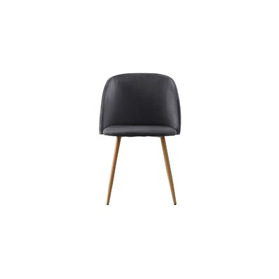 Willets Modern Side Chair Upholstery: Dark Gray