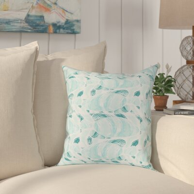 Cedarville Fishwich Coastal Throw Pillow Size: 26 H x 26 W, Color: Teal