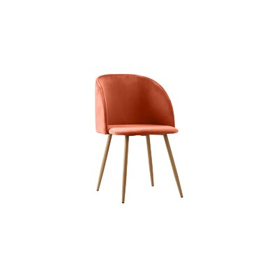 Willets Modern Side Chair Upholstery: Orange