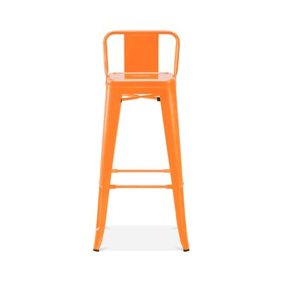 Briele Steel Low Back 30 Bar Stool Color: Orange