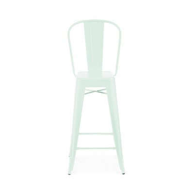 Despres Steel High Back 30 Bar Stool Color: Matte Mint