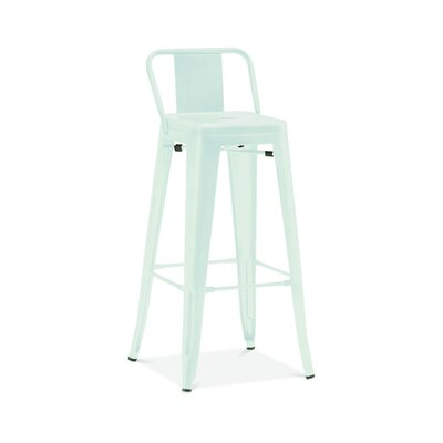 Briele Steel Low Back 30 Bar Stool Color: Matte Mint