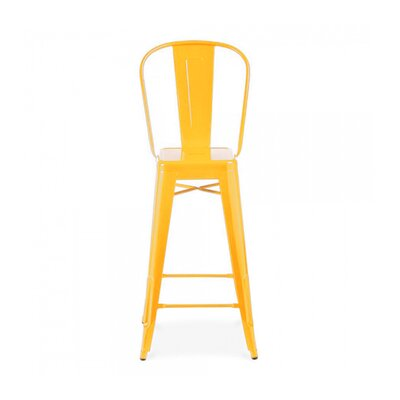 Despres Steel High Back 30 Bar Stool Color: Yellow