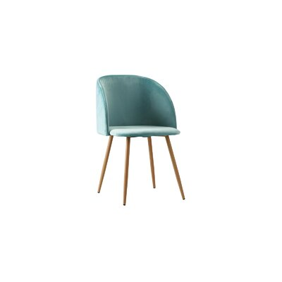Willets Modern Side Chair Upholstery: Turquoise