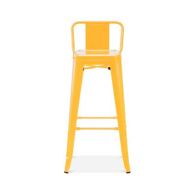 Briele Steel Low Back 30 Bar Stool Color: Yellow