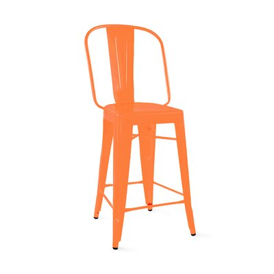 Despres Steel 30 Bar Stool Color: Orange