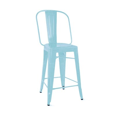 Despres Steel 30 Bar Stool Color: Matte Cyan