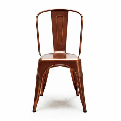 Despres Glossy Stackable Dining Chair Color: Copper