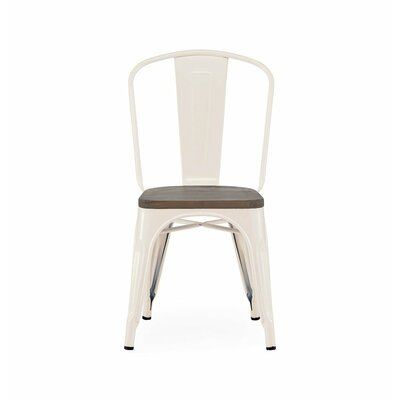 Despres Glossy Elm Wood Stackable Dining Chair Color: Cream