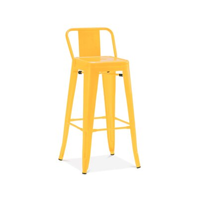 Despres Low Back Steel Counter 26 Bar Stool Color: Yellow