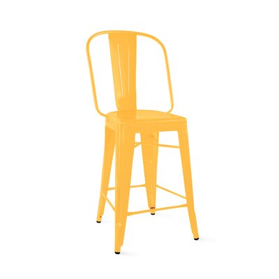 Despres Steel Counter 24 Bar Stool Color: Yellow