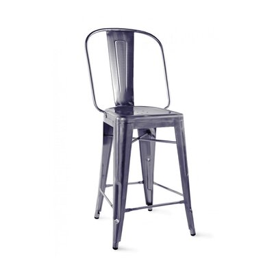 Despres Steel Counter 26 Bar Stool Color: Dark Gunmetal