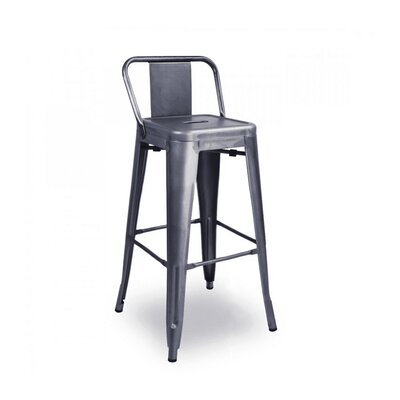 Despres Low Back Steel Counter 26 Bar Stool Color: Dark Gummetal