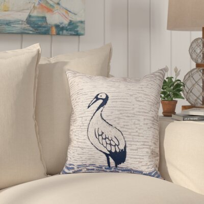 Boubacar Bird Square Outdoor Throw Pillow Size: 18 H x 18 W, Color: Purple