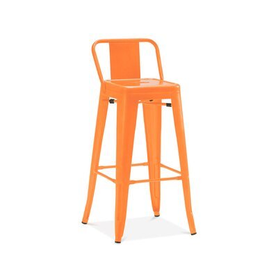 Despres Low Back Steel Counter 26 Bar Stool Color: Orange