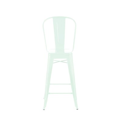 Despres High Back Steel Counter 26 Bar Stool Color: Matte Mint
