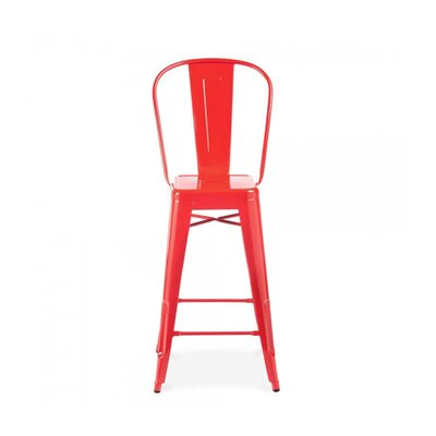 Despres High Back Steel Counter 26 Bar Stool Color: Red