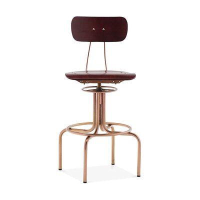 Goulart Adjustable Height Swivel Bar Stool