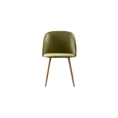 Willets Modern Side Chair Upholstery: Olive Green