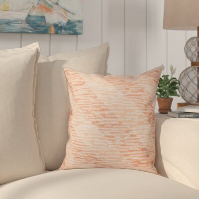 Boubacar Marled Knit Stripe Geometric Print Outdoor Throw Pillow Size: 20 H x 20 W, Color: Coral